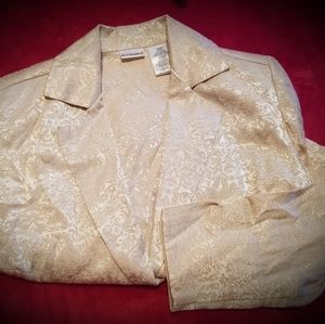 Junior's Small Gold Blazer No Boundaries 3/4sleeve